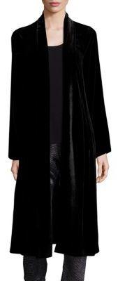 Eileen Fisher Long Velvet Jacket $378 thestylecure.com