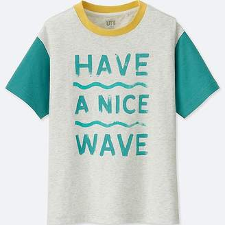 Uniqlo Kid's Matthew Allen Short-sleeve T-Shirt (sea Gaze)