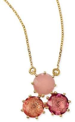 Suzanne Kalan KALAN by Multi-Stone Pink Cluster Pendant Necklace