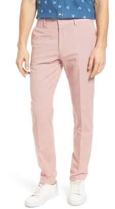 J.Crew J. CREW Ludlow Trim Fit Houndstooth Cotton & Linen Suit Pants