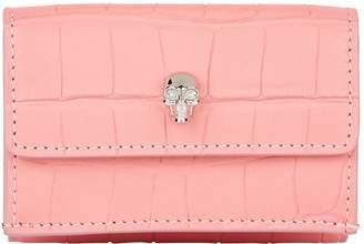 Alexander McQueen Mini Crocodile Print Flap Wallet