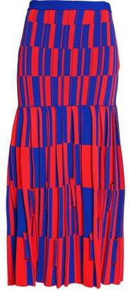 Proenza Schouler Two-Tone Jacquard-Knit Midi Skirt