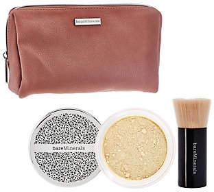 bareMinerals Deluxe Original Foundation & BrushDuo Plus Bag