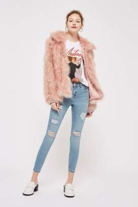 Topshop Petite Super Rip Bleach Jamie Jeans