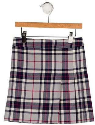 Brooks Brothers Girls' Plaid Wool Skirt