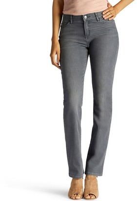 Lee Petite Flex Motion Regular Fit Straight-Leg Jeans