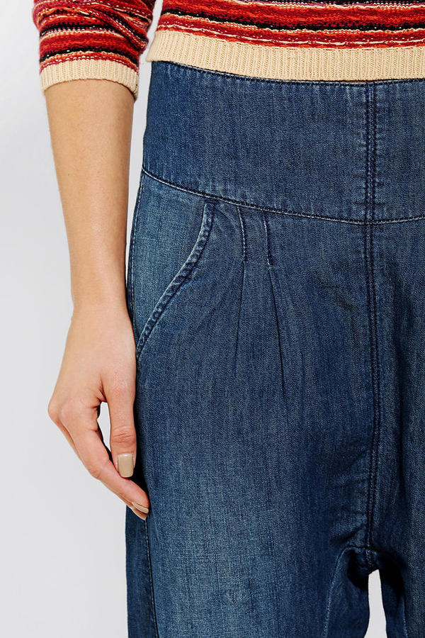 BDG Pleated Chambray Harem Pant