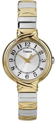 Timex Women's Sierra Street Watch, Two-Tone Stainless Steel Expansion Band