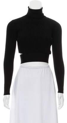 Cushnie et Ochs Turtleneck Knit Cropped Sweater