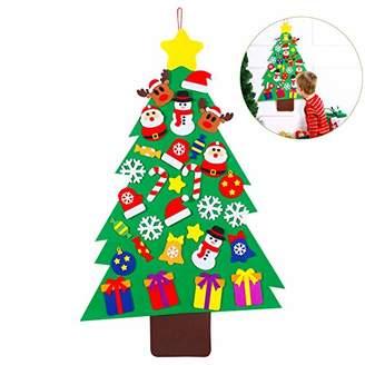 Unomor Felt Christmas Tree Set with 31pcs Ornaments for Kids