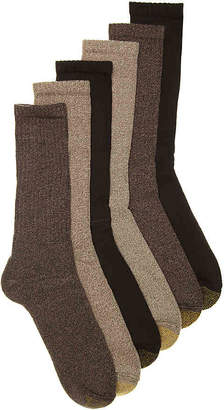 Gold Toe Harrington Crew Socks - 6 Pack - Men's