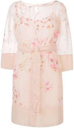 Twin-Set blossom print shift dress