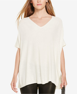 Polo Ralph Lauren Short-Sleeve V-Neck Sweater $125 thestylecure.com