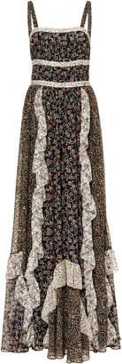 Ulla Johnson Brie Ruffle Silk Maxi Dress