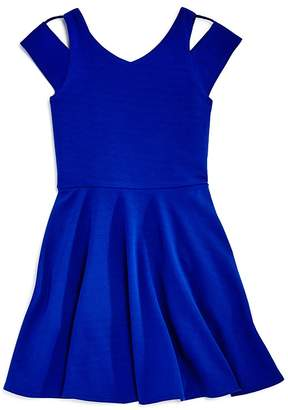 Sally Miller Girls' Textured Cold-Shoulder Dress - Big Kid