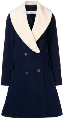 J.W.Anderson swing coat with shearling collar