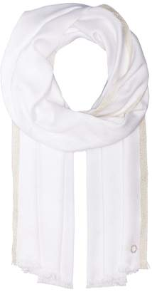 Calvin Klein Satin Pashmina with Lurex Border Scarves
