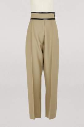 CLine Loose-fit wool pants