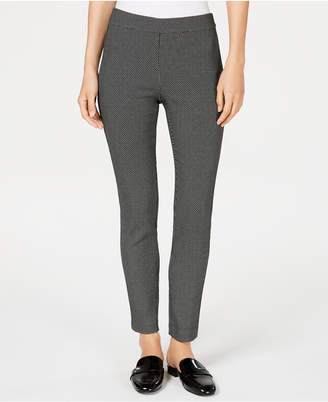 Maison Jules Patterned Stretch Ankle Pants