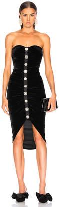 Veronica Beard Velvet Palo Dress in Black | FWRD