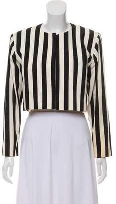 Saint Laurent Vintage Striped Structured Jacket