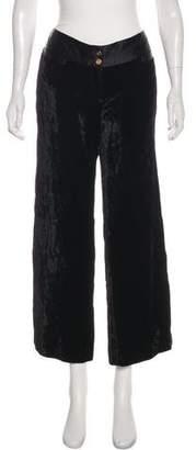 Dolce & Gabbana Logo Embellished Mid-Rise Wide-Leg Pants