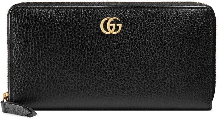 GucciLeather zip around wallet