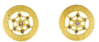 Farah Tanya Diamond Wheel Stud Earrings
