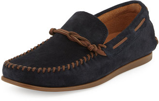 John Varvatos Star Suede Slip-On Moccasin, Midnight $159 thestylecure.com