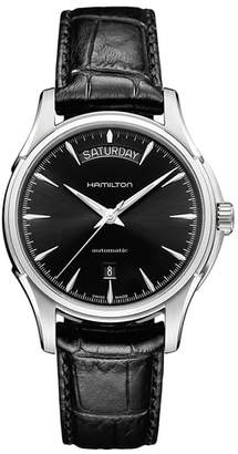 Hamilton Jazzmaster Automatic Leather Strap Watch, 40mm