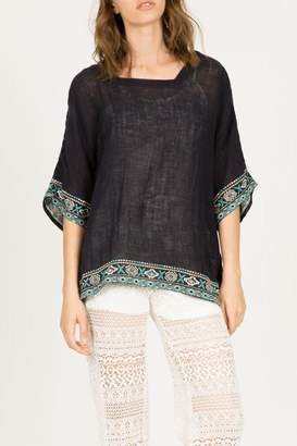 Monoreno Dolman Embroidered Top