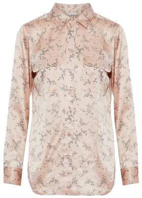 Equipment Floral-Print Silk-Satin Shirt