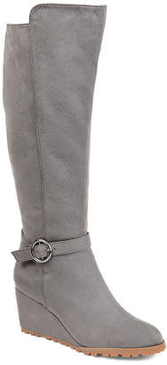 Journee Collection Womens Jc Veronica-Xwc Dress Wedge Heel Zip Boots