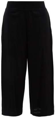 Issey Miyake Wide Leg Cotton Blend Culottes - Womens - Black