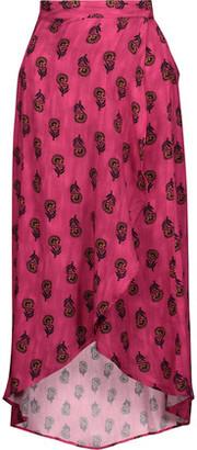 Vix Laos Asymmetric Printed Voile Wrap Maxi Skirt $196 thestylecure.com