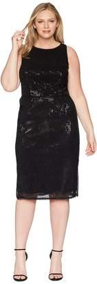 Adrianna Papell Plus Size Halter Pleated Sequin Dress Women's Dress