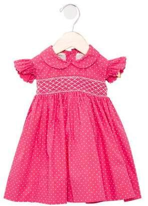 Leon Fleurisse Girls' Polka Dot A-Line Dress