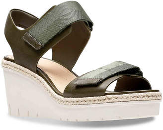 Clarks Artisan Palm Shine Wedge Sandal - Women's