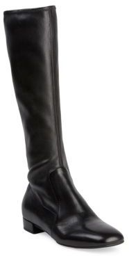 Prada Tall Stretch-Leather Boots