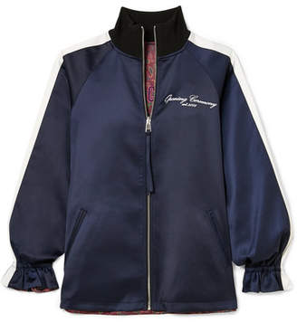 Opening Ceremony Souvenir Reversible Satin-shell Jacket - Midnight blue