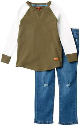 7 For All Mankind 2 Piece Thermal Top Set (Toddler Boys)