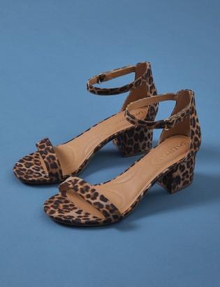 Leopard Short Ankle Strap Heel