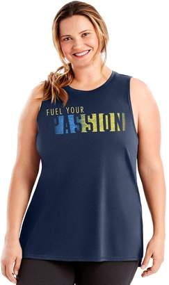 Just My Size Plus Size Graphic Muscle Tank
