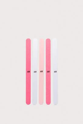 H&M 5-Pack Straight Nail Files - White