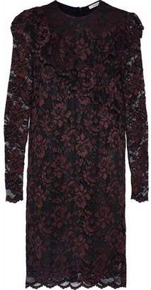 Ganni Flynn Ruffled Lace Mini Dress