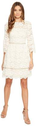 Vince Camuto Lace Elbow Sleeve Fit and Flare Dress Women's Dress