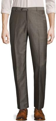 Isaia Men's Solid Woven Trousers