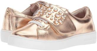 Michael Kors Girls' Ivy Chic-T Metallic Pearl Stud Fashion Shoes Rosegold 5C