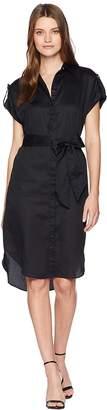 Lauren Ralph Lauren Sateen Short Sleeve Shirtdress Women's Dress