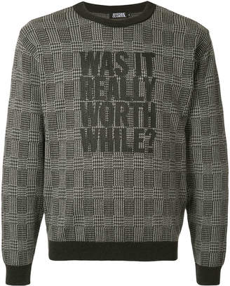 Hysteric Glamour Was It Really Worth While? print jumper